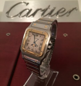 SOLD Cartier Santos Moonphase (SOLD)