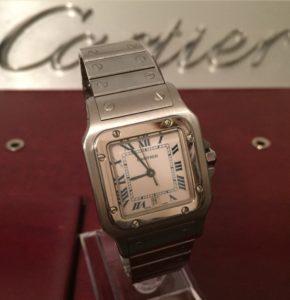 Cartier Santos – Quartz Men's Stainless steel Watch. Just serviced