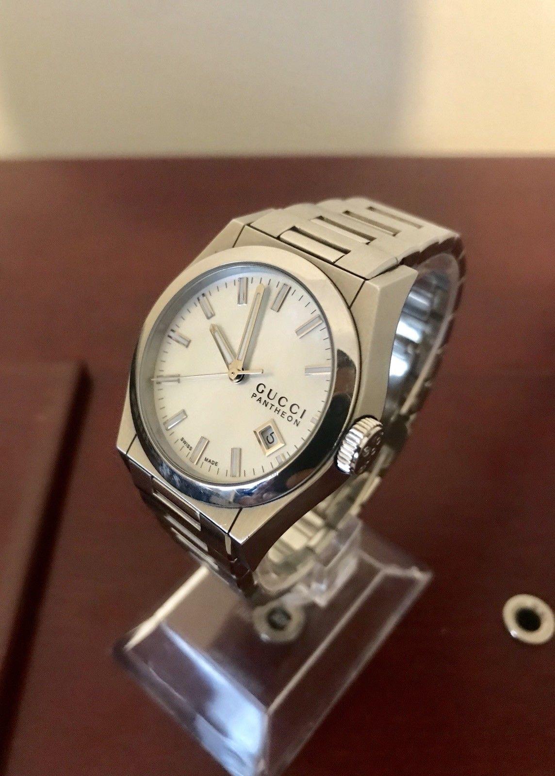 99d3685cf20 Gucci Pantheon Ladies Stainless Steel Watch Ya115402 Beautiful Inc ...